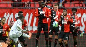 Les compos officielles du match de Ligue 1 entre Rennes et Amiens. AFP