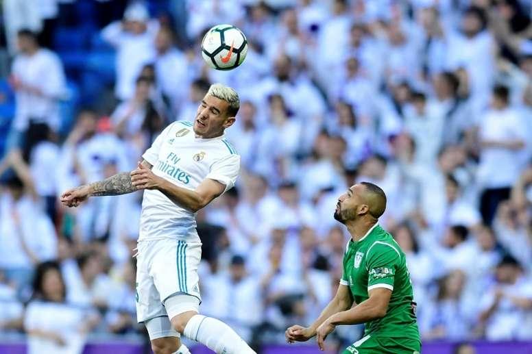 Theo Hernández recordó el día que fichó por el Real Madrid. AFP