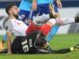 Munas Dabbur in talks with Crystal Palace. AFP