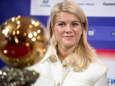 L'attaquante norvégienne de Lylon Ada Hegerberg premier Ballon d'or féminin. AFP