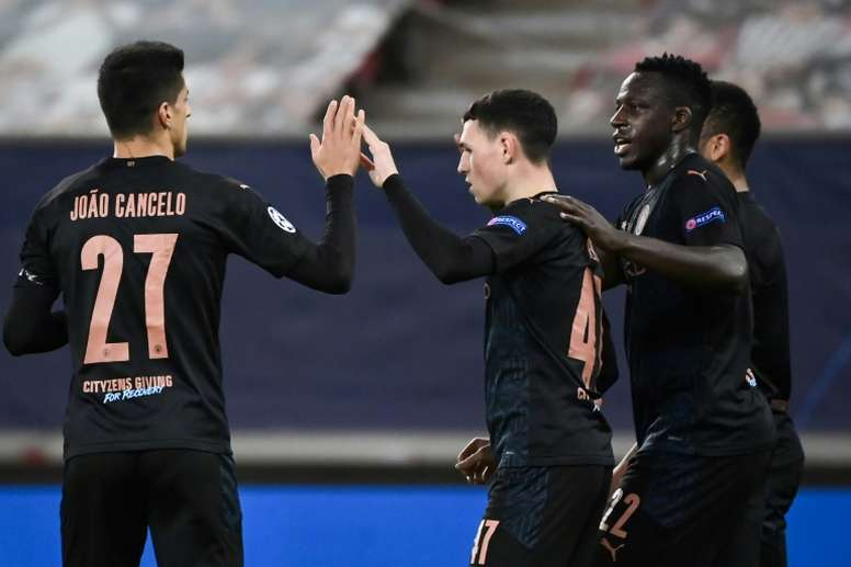 Manchester City file en huitièmes de finale. AFP