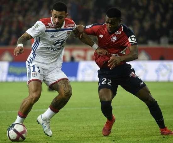 El Lyon empató 2-2 con el Lille. AFP