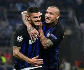 Nainggolan est actuellement prêté par l'Inter Milan à Cagliari. AFP