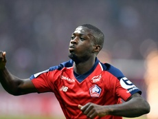 Nicolas Pépé auteur dun doublé lors de la victoire sur Angers 5-0. AFP