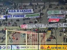 Des supporters réclament des sanctions plus lourdes contre Jeonbuk Avant la demi-finale. AFP