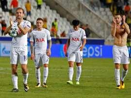 Kane scored a hat-trick as his side beat APOEL 3-0 on Tuesday night. AFP