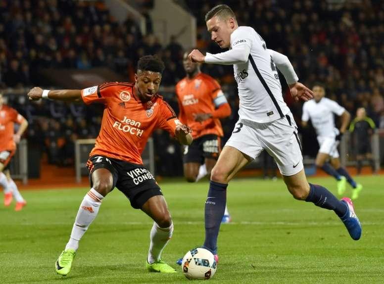 El PSG venció al colista de la Ligue 1. AFP