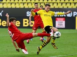 Bundesliga está pensando em uma data para abrir os estádios. AFP