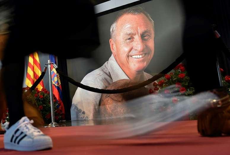 Le onze type de Cruyff lorsqu'il entraînait le Barça. AFP