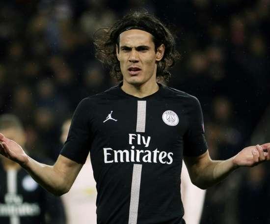 Edinson Cavani ne sera pas disponible face à Marseille. AFP