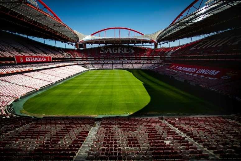 Esádio da Luz receberá partida da Europa League na próxima quinta-feira. AFP