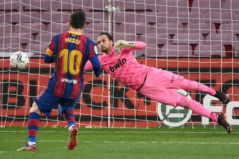 Messi multiplica os seus números nos últimos cinco jogos. AFP