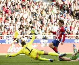 L'Atlético est provisoirement deuxième. AFP