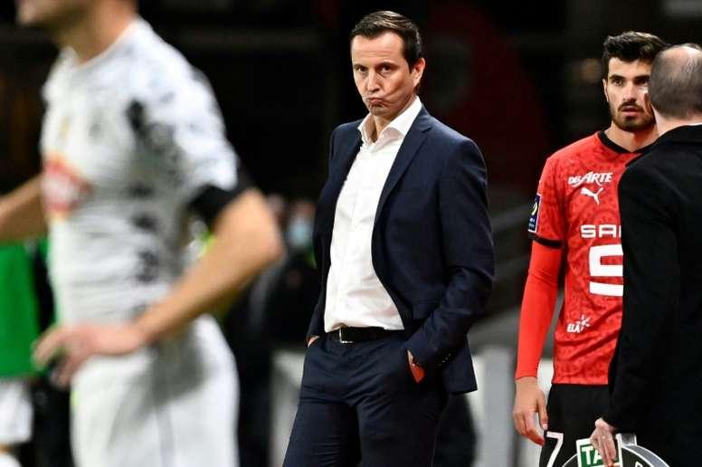 Stephan réagit après le match contre Strasbourg. AFP