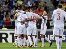 L'Espagne, portée par Alvaro Morata, a surclassé le Liechtenstein. AFP