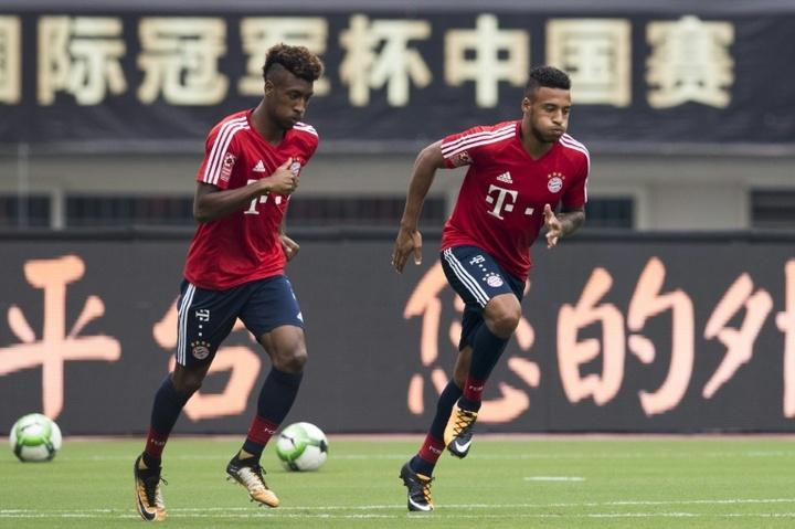 Coman y Tolisso son duda para visitar el Camp Nou. AFP/Archivo
