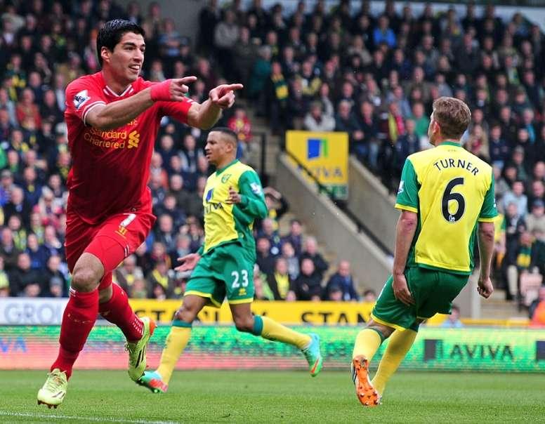 Luis Suarez features in the top ten greatest three-goal hauls. AFP