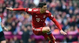 Lewandowski veut continuer à battre des records au Bayern. AFP