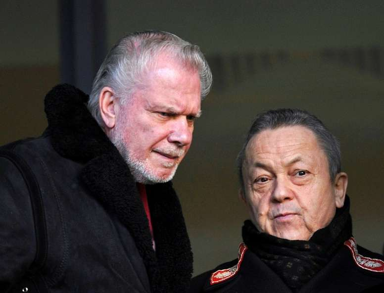 David Gold and David Sullivan pictured in 2011. AFP