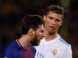 'J'admire beaucoup la carrière de Lionel Messi'. AFP