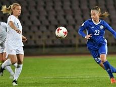 Les Bleues s'imposent pour leurs débuts. AFP