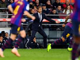 Julen Lopetegui, lors du match de Liga face à Barcelone. AFP