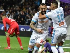 Mitroglou marcó el gol del triunfo para el Marsella. AFP