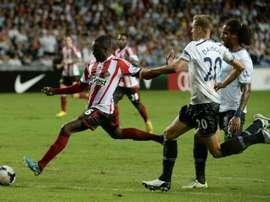 Cabral, alors sous le maillot de Sunderland, face à Tottenham, le 24 juillet 2013 à Hong-Kong. AFP