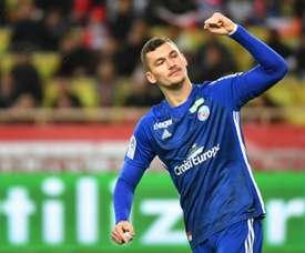 Ludovic Ajorque buteur lors de la victoire 5-1. AFP