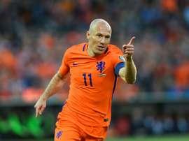 Arjen Robben a montré la voie aux Pays-Bas face au Luxembourg en qualifications du Mondial. AFP