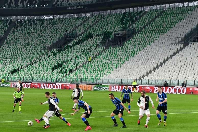 La Lega Serie A propone la ripresa il 13 giugno. AFP