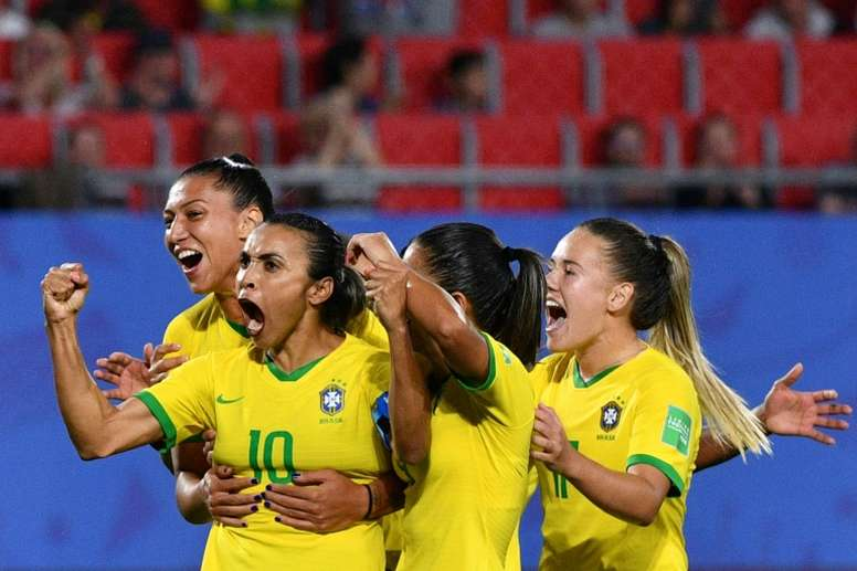 Brasil conquistó dos récords históricos en el Mundial. AFP