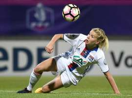 L'attaquante de Lyon Ada Hegerberg lors de la finale de la Coupe de France contre le PSG. AFP