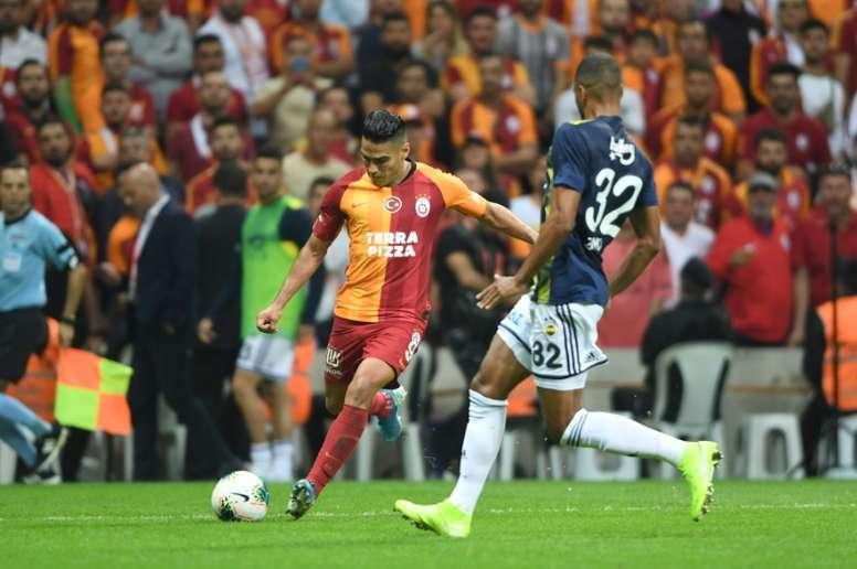 Falcao es optimista con el Galatasaray. AFP
