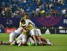 Les Uruguayens fêtent leur qualification pour les demi-finales du Mondial U20. AFP