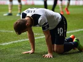 L'attaquant de Tottenham, Harry Kane, blessé lors du match contre Milwall en Coupe d'Angleterre. AFP