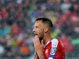 Seferovic se está viendo tentado por el fútbol turco. AFP/Archivo