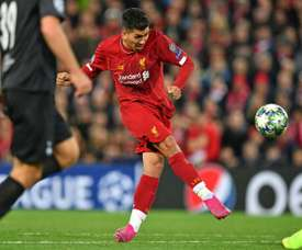 He hs almost gone a year without scoring at Anfield. AFP