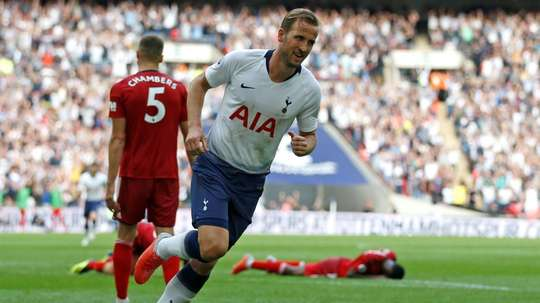 Harry Kane was relieved to score on Saturday. AFP