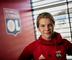 Un bon souvenir pour la joueuse de Lyon. AFP