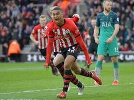 Yan Valery buteur pour Southampton à domicile contre Tottenham. AFP