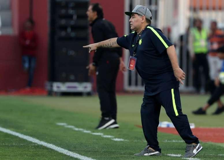 Maradona n'est plus l'entraîneur de d'Al Fujairah. AFP
