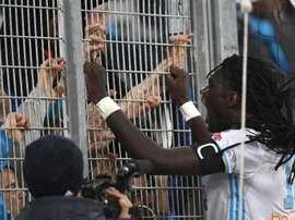 Gomis anotó uno de los tres tantos del Marsella al Nancy. AFP