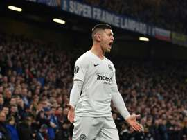 Jovic sees his future in the Premier League or Serie A. AFP