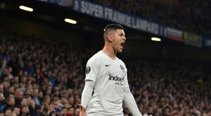Luka Jovic lors du match de Ligue Europa. AFP