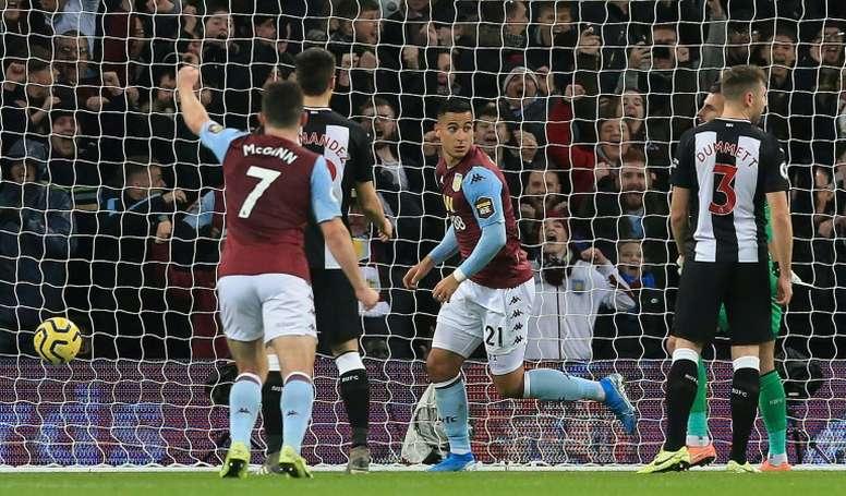Aston Villa se relance et stoppe Newcastle. AFP