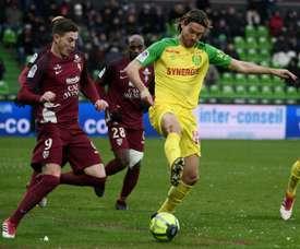 El Nantes sólo pudo empatar. AFP