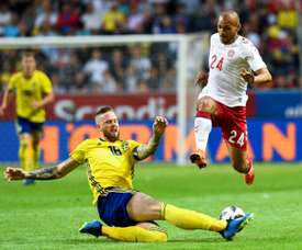 Pontus Jansson could leave Leeds to go to Brentford. AFP