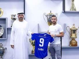 Diaa Sabia, premier footballeur israélien à jouer dans un championnat du Golfe. afp
