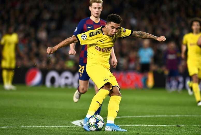 Jadon Sancho is standing out a lot. AFP
